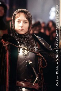 Leelee Sobieski as Joan of Arc - CBS Television, 1999. The absolute best movie of Jeanne d'Arc.