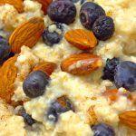Terci de ovaz cu afine, migdale si scortisoara Cereal, Deserts, Vegan, Breakfast, Health, Romania, Food, Morning Coffee, Health Care