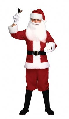 Kids Santa Suit Costume - Make the most this Christmas with this fun kids Santa Suit costume! It comes with fleece jacket and pants, belt, hat and boot tops. Perfect for Christmas and Halloween too! #YYC #Calgary #Costume #Santa #SantaIsComing