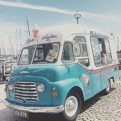 From Devon in the UK this classic old ice cream van down by the seaside. shot by @tash_1206 _
