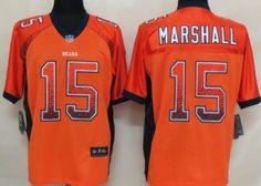 nike chicago bears 15 brandon marshall 2013 drift fashion orange elite jersey