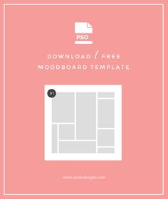Download Your Freebie  Creating moodboards is an essential part of my design process as a graphic designer, and it's also super fun! It can be pretty tedious trying to create a moodboard in Ph...