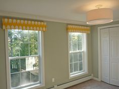 DIY Cornices. I'm definitely using this tutorial! Will be shopping for fabric next week!