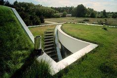 ondergrondse huis plannen hedendaagse architecutre ideeën groene huis ontwerpen