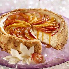 (Caramel-Apple Cheesecake) Most popular apple desserts, stray a little from your apple crumble and try these AMAZING! apple recipes #MiniCookbook