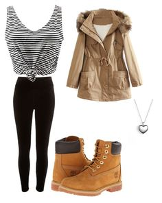 """""""simple"""" by princessone4ever ❤ liked on Polyvore featuring River Island, WithChic, Timberland and Pandora"""