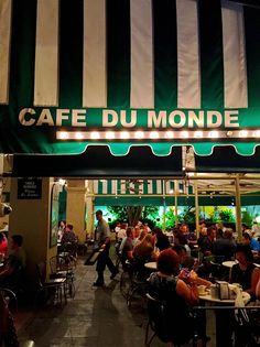 New Orleans Cafe du Monde in New Orleans - a must see when in NOLA!Cafe du Monde in New Orleans - a must see when in NOLA! New Orleans Vacation, Visit New Orleans, New Orleans Travel, New Orleans Louisiana, Oh The Places You'll Go, Places To Travel, Hotels, Just Dream, Restaurant