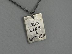 Run like a mother necklace