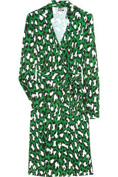 Green DVF Wrap Dress