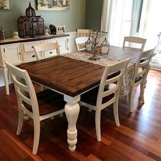 Essential steps to luxury easy rustic farmhouse dining room makeover ideas 28 Farmhouse Kitchen Tables, Bar Furniture, Dining Furniture, Dining Room Decor, Farmhouse Dining Rooms Decor, Dining Room Table, Kitchen Table Makeover, Rustic Dining Room, Dining Room Furniture
