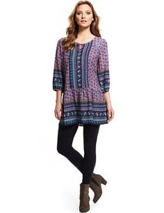Indigo+Collection+Ditsy+Floral+Border+&+Embroidered+Dress