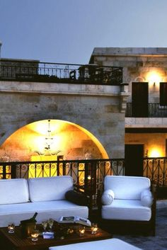 The rooftop terrace, where breakfast is served in the summer, overlooks ancient cave dwellings. Sacred House (Cappadocia, Turkey) - Jetsetter