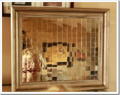 Mosaic Shell And Mirror Art–{creative Juices Décor}