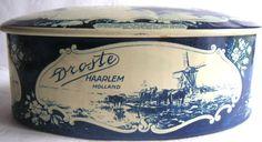 Vintage Droste Haarlem Holland Tin in Delft Blue by QVintage, $22.00