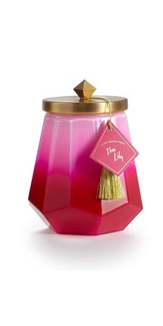 Illume® Thai Lily Laurel Glass Candle at The Company Store - Home Décor - Home Accents - Candles & Holders - One Size Illume Candles, Pink Candles, Scented Candles, Patchouli Candles, Glass Candle, Glass Jars, Candle Jars, Candle Holders, Scented Geranium