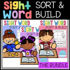 This Sight Word Sort and Build was made with Pre-K in mind. This set is an excellent way to practice simple sight word recognition by sorting and building the sight word focused on and also a great fine motor skill practice. This pack is also perfect for kindergarten.