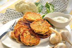 femina.cz - Květákové placičky s česnekem Tandoori Chicken, Salmon Burgers, Ham, Cauliflower, Menu, Vegetables, Ethnic Recipes, Fitness