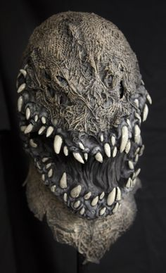 Mr Grimm Demon Devil Cornfield of Hell Scarecrow Monster Creature Halloween Mask.  Perfect for a Haunted Corn Maze or year round costume accessory, the Mr. Grimm is the ultimate Demon Devil Scarecrow Halloween Mask! $75.00, free U.S. Shipping.