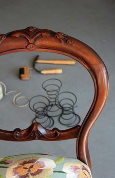 Rejuvinating coil springs for a chair