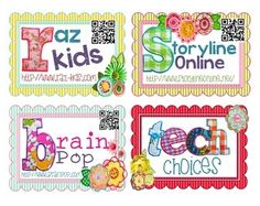 Awesome freebie! Tech Choice Task Cards w/ website and QR Scanner code! 40 in all! Perfect for small group, centers, indoor recess, or rewards!