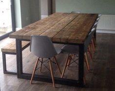 Reclaimed Industrial Chic 6-8 Seater Solid Wood door RccFurniture