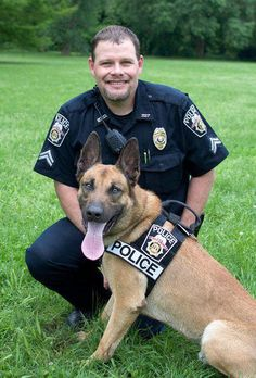 February 2012 Working Dog of the Month  K-9 Oxx and Cpl. Moore of the Waynesville Police Department (Missouri)