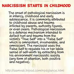 I am so glad that narcissism is finally being recognized as a mental illness.  This disorder has literally ruined my life, as my ex-husband is a narcissist to the nth degree and has stripped me of everything (including my children) that matters to me.  I only wish I'd have learned how to devastating it was going to turn out to be 20 yrs. earlier.    ᘡղbᘠ