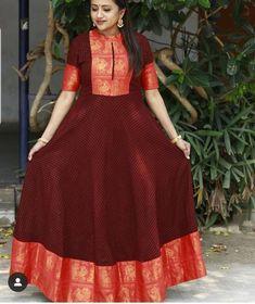Long Gown Dress, Sari Dress, Frock Dress, Saree Gown, Lehenga, Kurta Designs Women, Dress Neck Designs, Blouse Neck Designs, Designer Anarkali Dresses