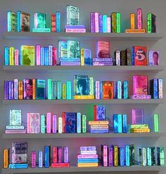 Airan Kang. Installation view of Lighting Books, 2009