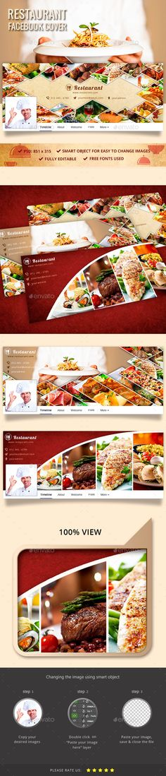 Restaurant Facebook Cover #photoshop #psd #creative timeline #multipurpose • Available here → https://graphicriver.net/item/restaurant-facebook-cover/13198166?ref=pxcr