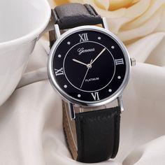 Brand Wrist Watches For Men Women Girl Simple Geneva Watch Fashion Leather Band Analog Quartz Watches Wrist Watch Relojes Mujer