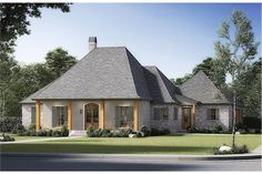 Experience the comfortable lifestyle offered by this Acadian-style house with French Country characteristics. With its wonderful, simple, and sincere design, the house is a home that's perfect for you and your family! The well-designed 1-story floor plan has 2489 square feet of heated and cooled living space and includes 4 bedrooms.