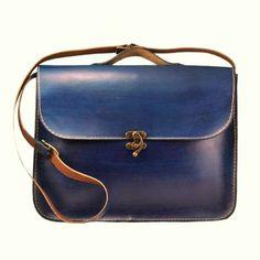 Blue Leather Laptop Bag ,Briefcase ,Messenger Bag ,Shoulder Bag ,Satchel ,for men ,for women ,Fathers Day