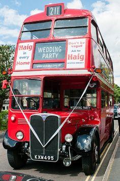 Vintage Wedding Bus Transport Routemaster Guest Via Love