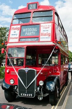 vintage wedding bus, wedding transport, Routemaster wedding bus, wedding guest transport via love luxe blog