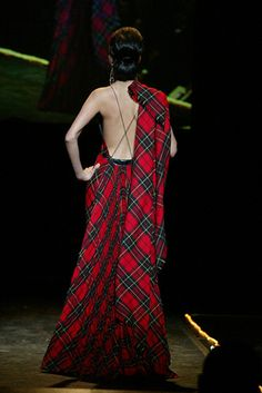 tartan evening dress #plaid #tartan #fashion #Sewcratic