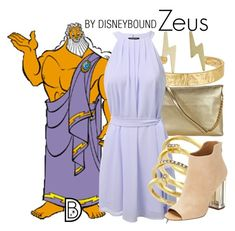 Zeus by leslieakay on Polyvore featuring polyvore, fashion, style, Calvin Klein, Michael Kors, Vince Camuto, Sam Edelman, Jessica Elliot, clothing, disney and disneybound