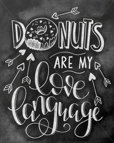 Donut Chalkboard / Donut Decor / Wall Art / by MegsTruly on Etsy
