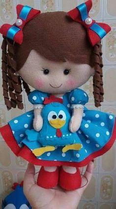 Apostila digital turma da monica em feltro com moldes gratis para download - Como Fazer Felt Doll Patterns, Felt Animal Patterns, Stuffed Animal Patterns, Fabric Dolls, Paper Dolls, Felt Crafts Dolls, Felt Baby, Soft Dolls, Felt Toys