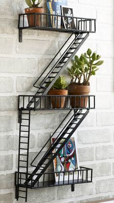 Firescape planter shelf