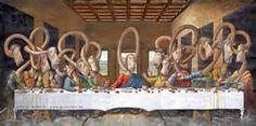 Das letzte Abendmahl - nach Leonardo da Vinci [Martin Mißfeldt] (La Última Cena / The Last Supper) Pictures To Paint, Art Pictures, Jesus Cartoon, Nostalgia Art, Saint Yves, Famous Artwork, Last Supper, Free Vector Art, Pop Culture