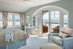 Shingle-Style Beach House ~ Eberlein Design Consultants Ltd. Beach House Bedroom, Beach House Decor, Home Bedroom, Costal Bedroom, Bedroom Ideas, Bedroom Decor, Home Room Design, House Design, Nantucket Style Homes