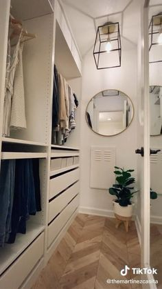 Bedroom Closet Design, Master Bedroom Closet, Home Room Design, Closet Designs, Bathroom With Closet, Narrow Closet Design, Master Closet Layout, Small Master Closet, Laundry Room Design