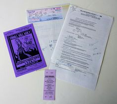 My Life with The Thrill Kill Kult Concert Contract Piece Of Music, Concert Tickets, Pittsburgh Pa, Death, Map, The Originals, Life, Location Map, Maps