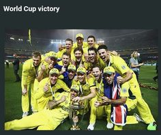 The australian team celebrate with the trophy after the 2015 icc cricket world cup final match Nutrition Program, Kids Nutrition, Steve Smith, Cricket World Cup, Casino Outfit, Best Homemade Dog Food, Healthy Meals For Two, Dog Treat Recipes, Healthy People 2020