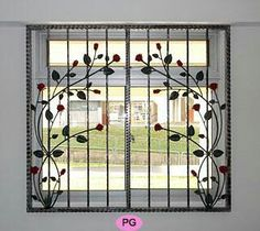 Window Grill Design for The Stylish Look and Safety - Decoration . Window Grill Design for The Sty Home Window Grill Design, Iron Window Grill, Window Grill Design Modern, House Window Design, Grill Door Design, Balcony Design, Tor Design, Gate Design, Steel Grill Design