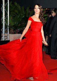 cap sleeve long Chiffon red a-line celebrity Dresses picture 1