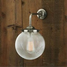 Elegant and refined, our Bertie Classic Prismatic Glass Globe Wall Light refracts light beautifully. Bertie also wonderfully suits contemporary interiors. Glass Wall Lights, Bathroom Wall Lights, Modern Wall Lights, Barn Lighting, Outdoor Wall Lighting, Sconce Lighting, Hallway Lighting, Appliques Murales Vintage, Applique Vintage
