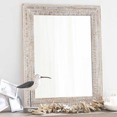 Paulownia Wood Champagne Mirror 90x120 Maisons du Monde
