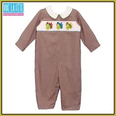 NEW ARRIVAL! Turkey Smocked Boys Long Bubble!
